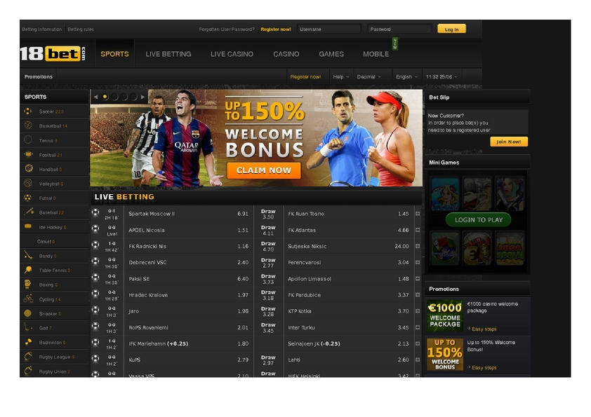 18 Bet review on Free Slot Reviews