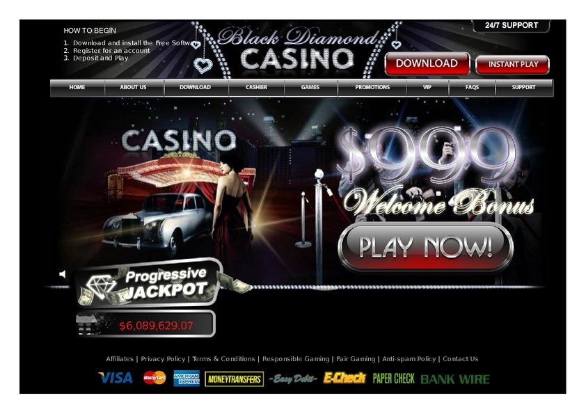 Black Diamond review on Free Slot Reviews