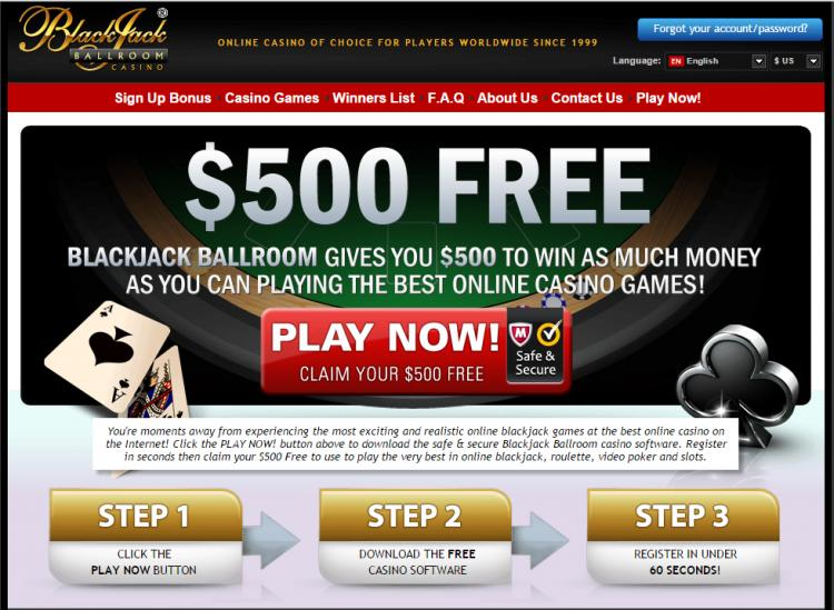 Blackjack Ballroom review on Free Slot Reviews
