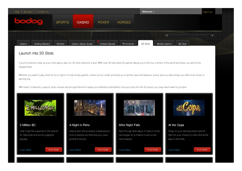 Bodog review on Free Slot Reviews