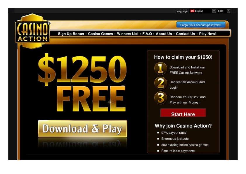 Casino Action review on Free Slot Reviews