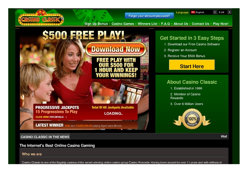 Casino Classic review on Free Slot Reviews