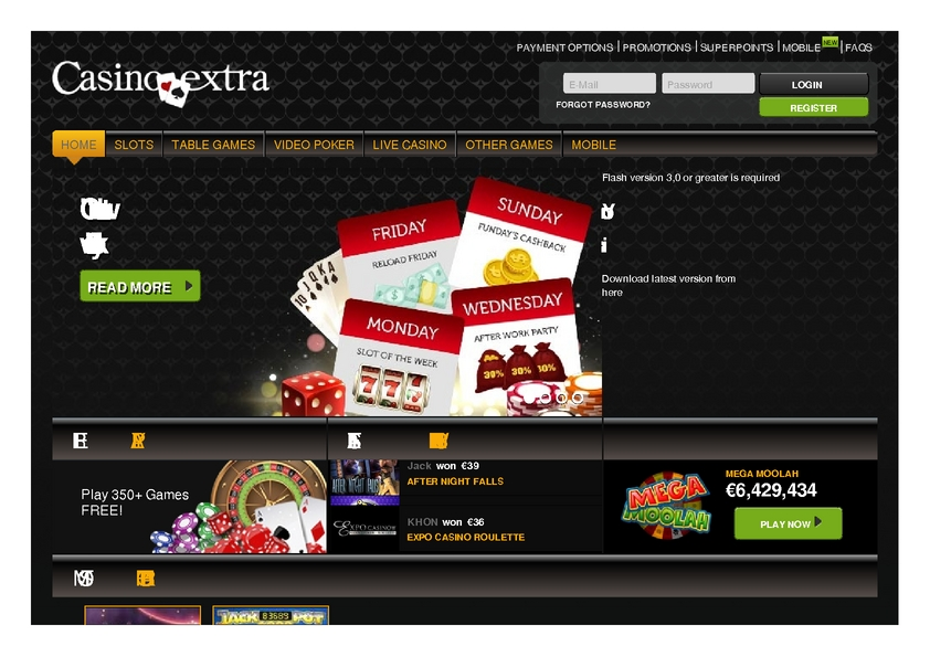 Casino Extra review on Free Slot Reviews
