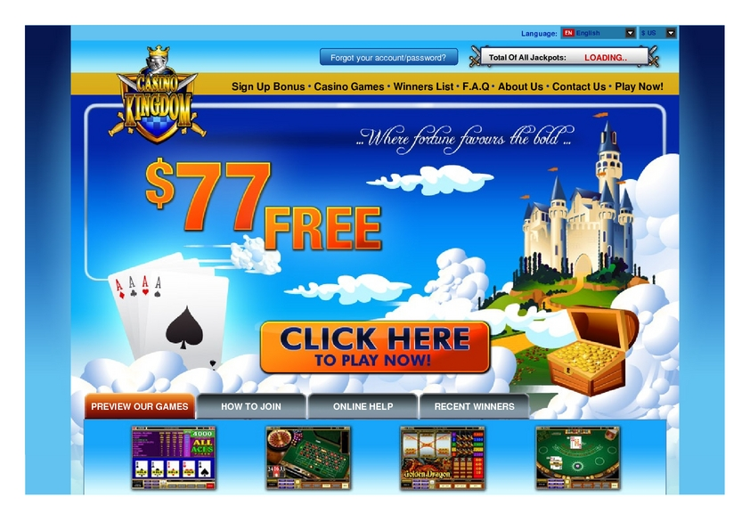 Casino Kingdom review on Free Slot Reviews