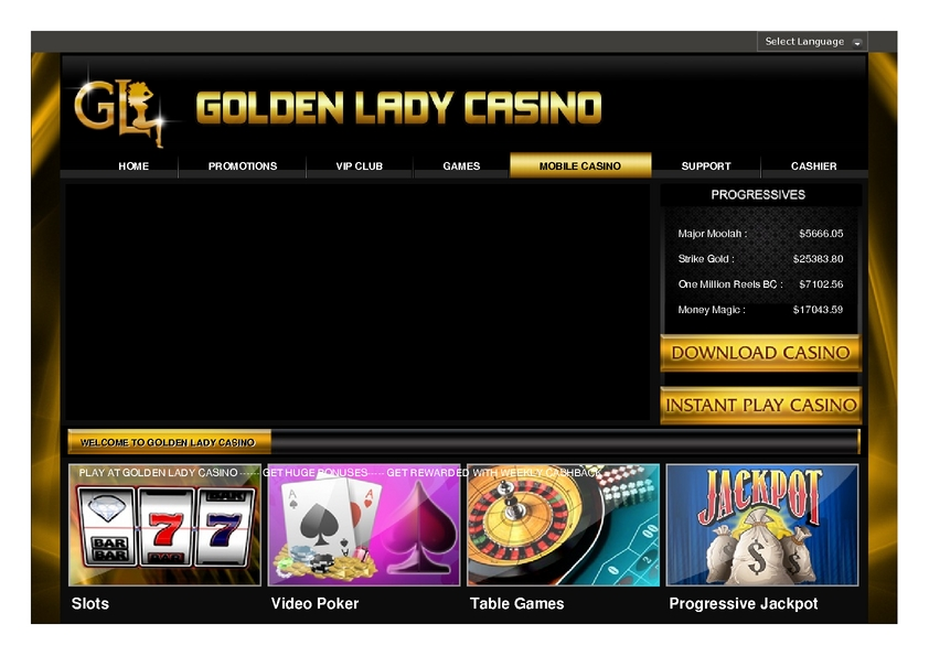 Golden Lady review on Free Slot Reviews