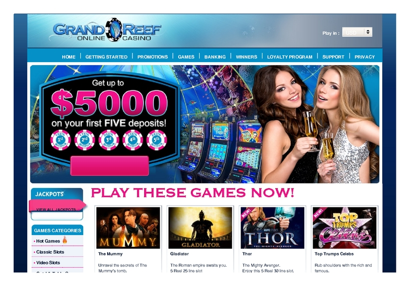 Grand Reef review on Free Slot Reviews