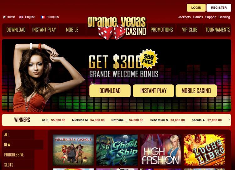 Grande Vegas review on Free Slot Reviews
