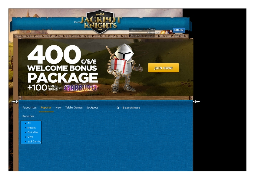 Jackpot Knights review on Free Slot Reviews