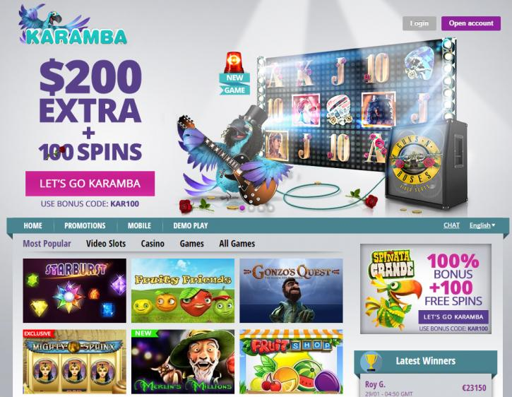 Karamba review on Free Slot Reviews