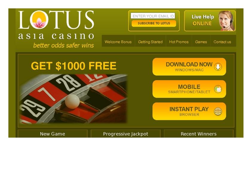 Lotus Asia review on Free Slot Reviews