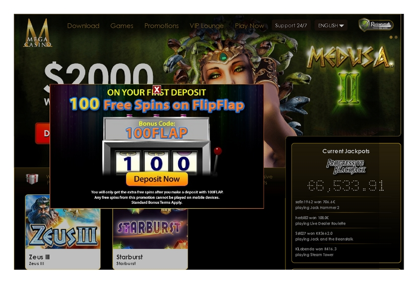 Mega Casino review on Free Slot Reviews