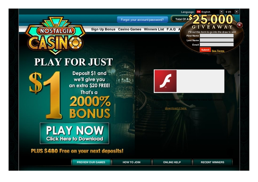 Nostalgia Casino review on Free Slot Reviews