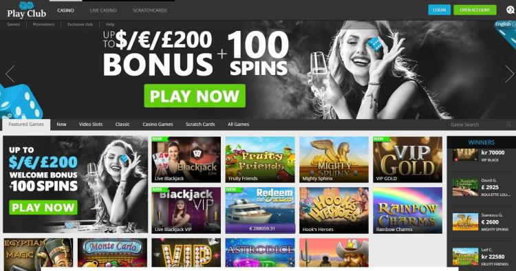 Play Club Casino review on Free Slot Reviews