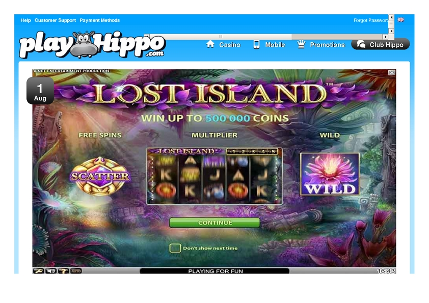 Play Hippo review on Free Slot Reviews