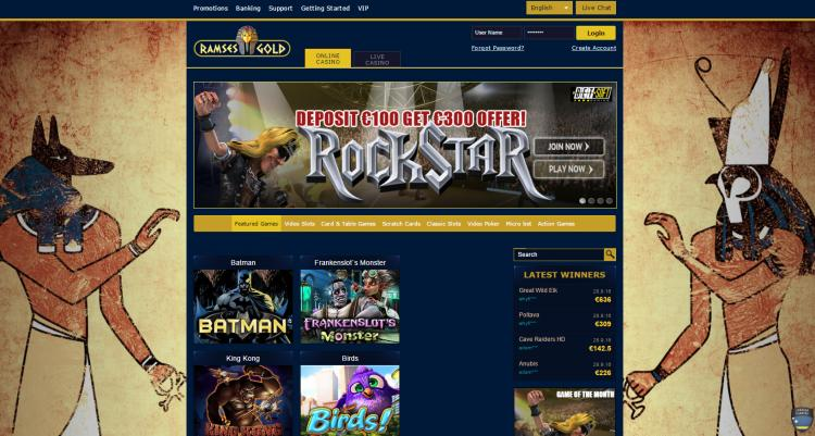 Ramses Gold review on Free Slot Reviews