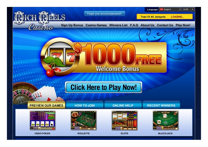 Rich Reels review on Free Slot Reviews