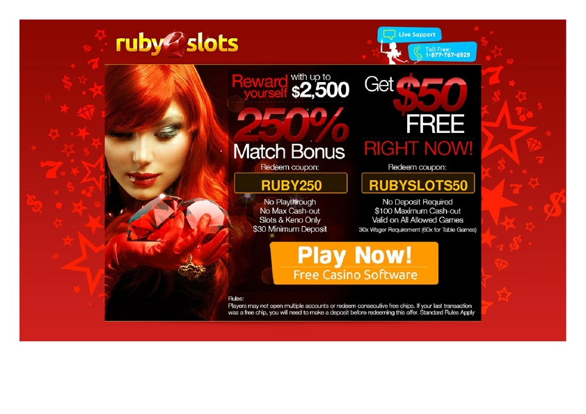 Ruby Slots review on Free Slot Reviews