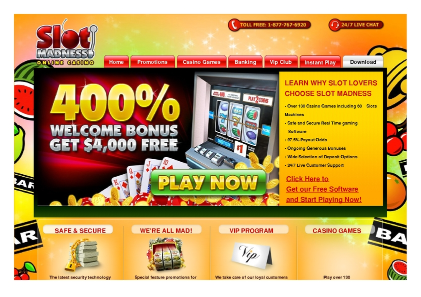 Slot Madness review on Free Slot Reviews