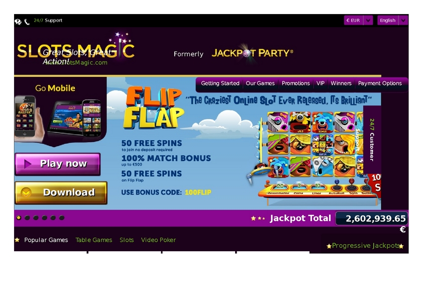 Slots Magic review on Free Slot Reviews