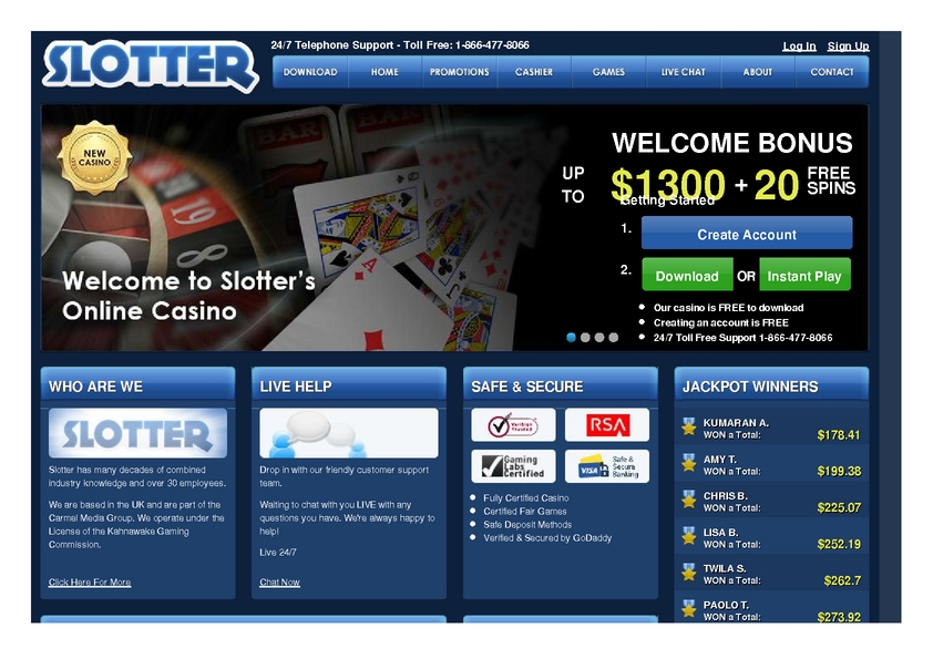 Slotter review on Free Slot Reviews