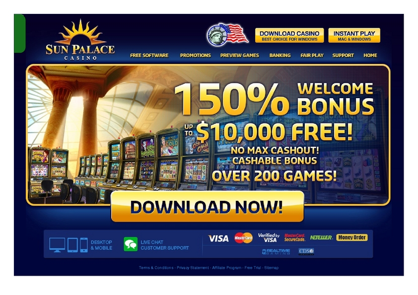 Sun Palace review on Free Slot Reviews