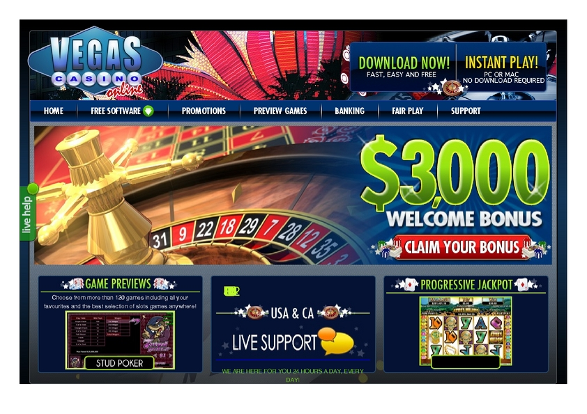 Vegas Casino Online review on Free Slot Reviews