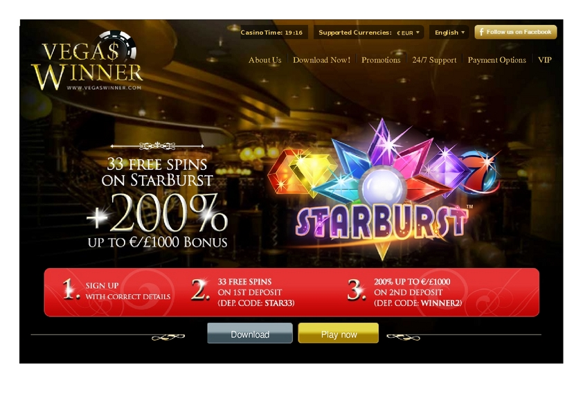Vegas Winner review on Free Slot Reviews