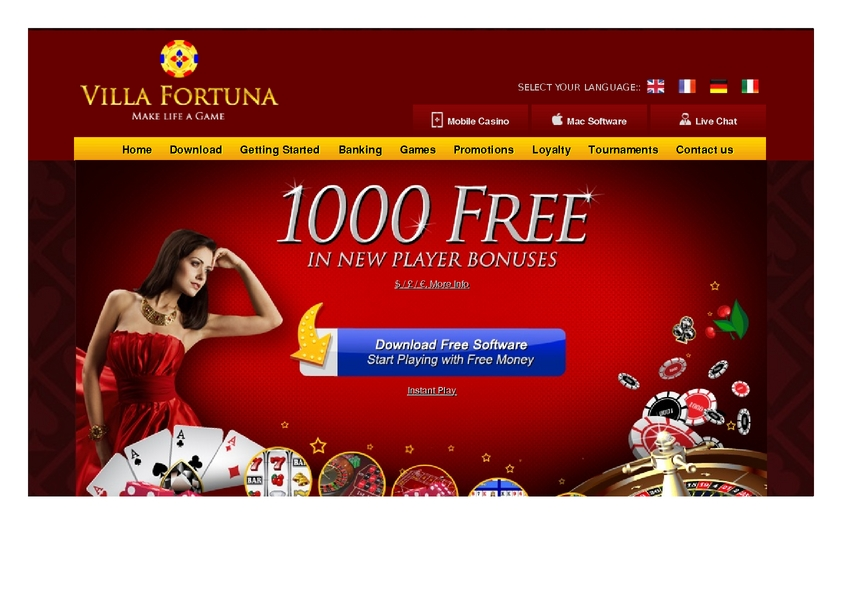 Villa Fortuna review on Free Slot Reviews
