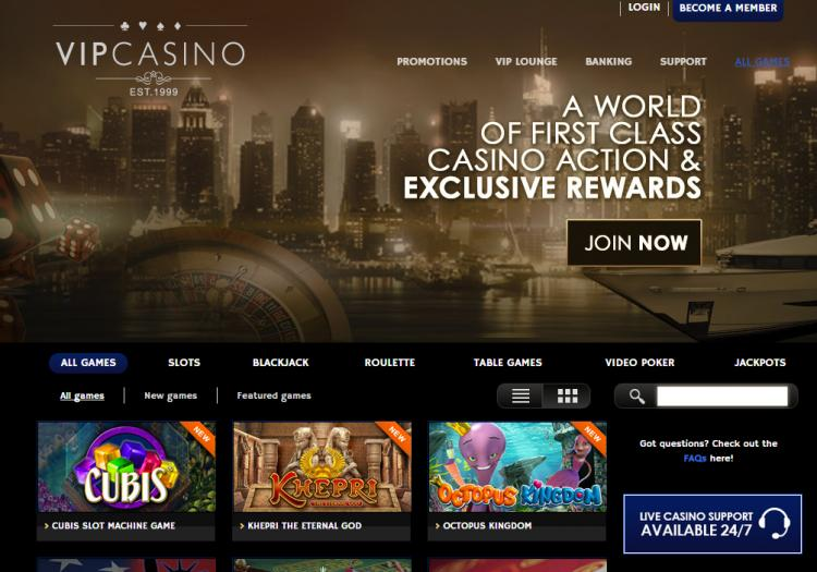 VIP Casino review on Free Slot Reviews