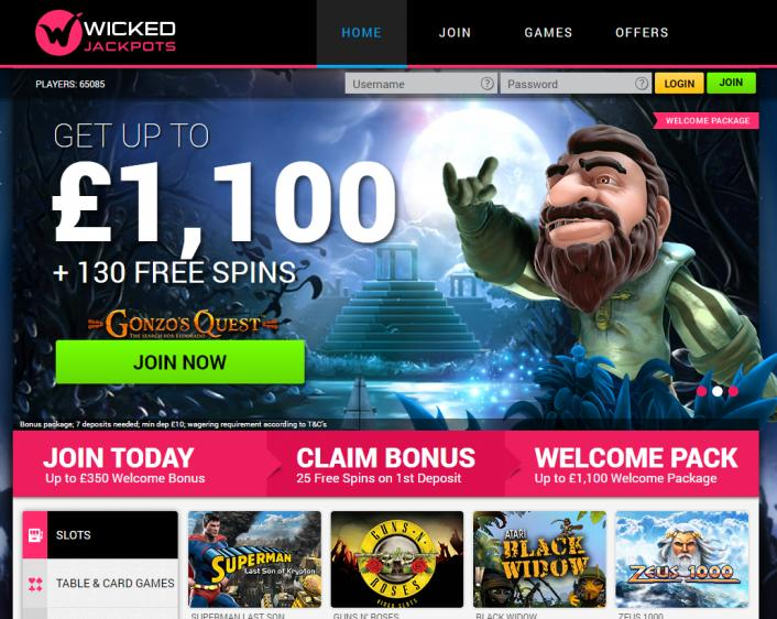 Wicked Jackpots review on Free Slot Reviews