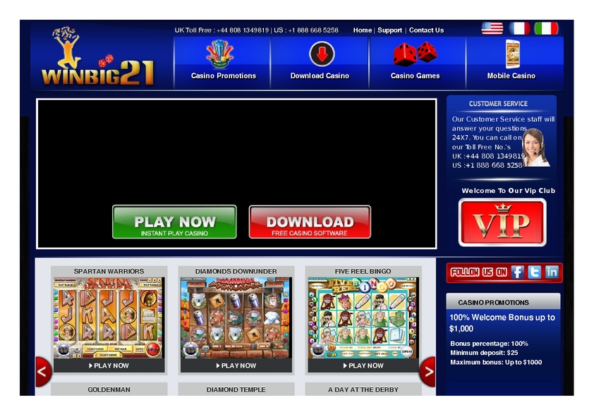 Winbig21 review on Free Slot Reviews