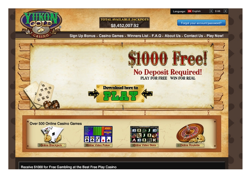 Yukon Gold review on Free Slot Reviews