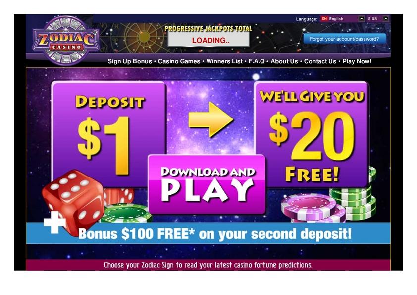 Zodiac review on Free Slot Reviews